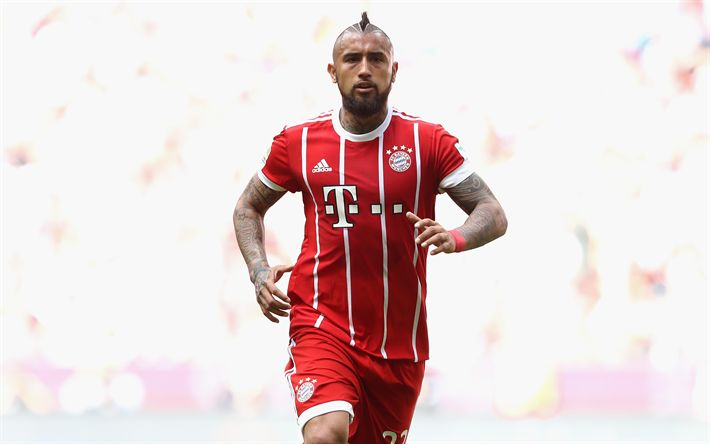 Download wallpapers Arturo Vidal, 4k, Bayern Munich, Bundesliga, soccer, footballers