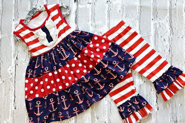 """""""Alyssa"""" Anchor Dress:  an adorable summer look jut $11.70 with a share!"""