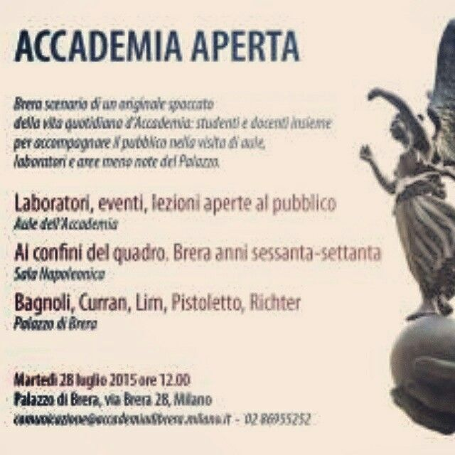 Accademia di Brera and our Brochure #visual_roots #AccademiaAperta #FondPeruzzo #Brera #Milan