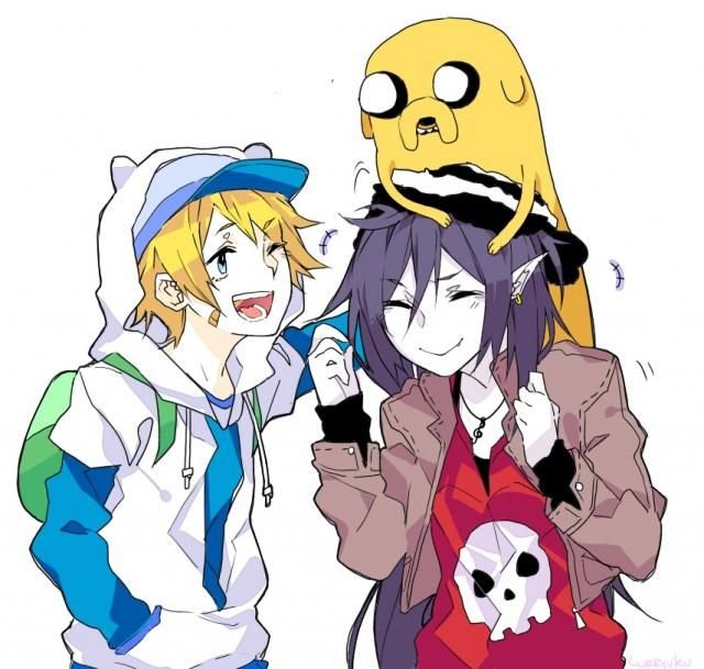 hora de aventura marceline y marshall lee love anime - Buscar con Google