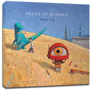 Picture Book.  RULES OF SUMMER, is a deceptively simple story about two boys, one older and one younger, and the kind of 'rules' that might govern any rela...  Links to teachers guide.