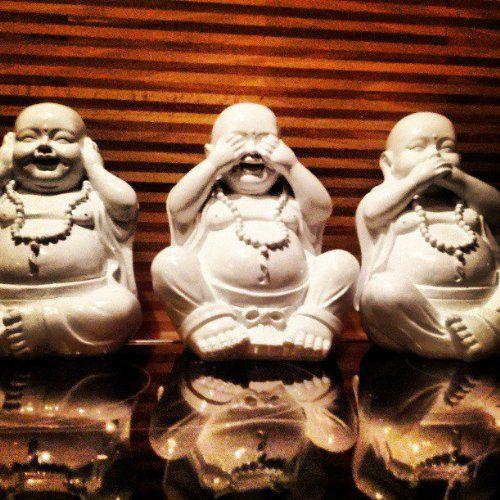 LUCKY BUDDHA SET 3 FIGUREN – 1 PREIS – NICHTS HÖREN SEHEN SAGEN SKULPTUR DEKORATION – Tinas Collection – Das etwas andere Design