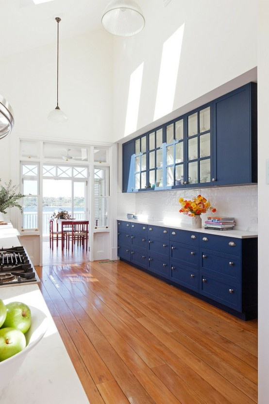 Colored Kitchen Cabinets  Insperation for the After  Pinterest