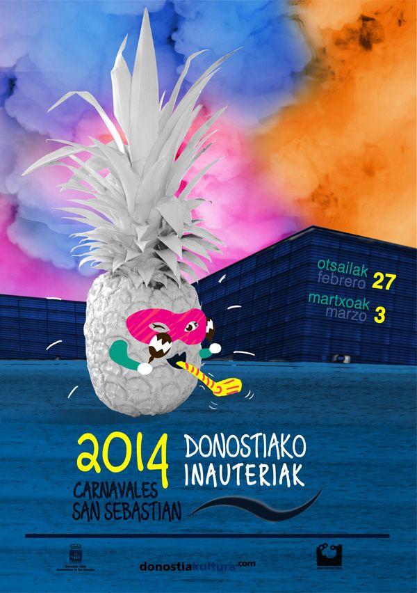 iñauteriak donostia 2014 - carnaval san sebastian 2014 - poster