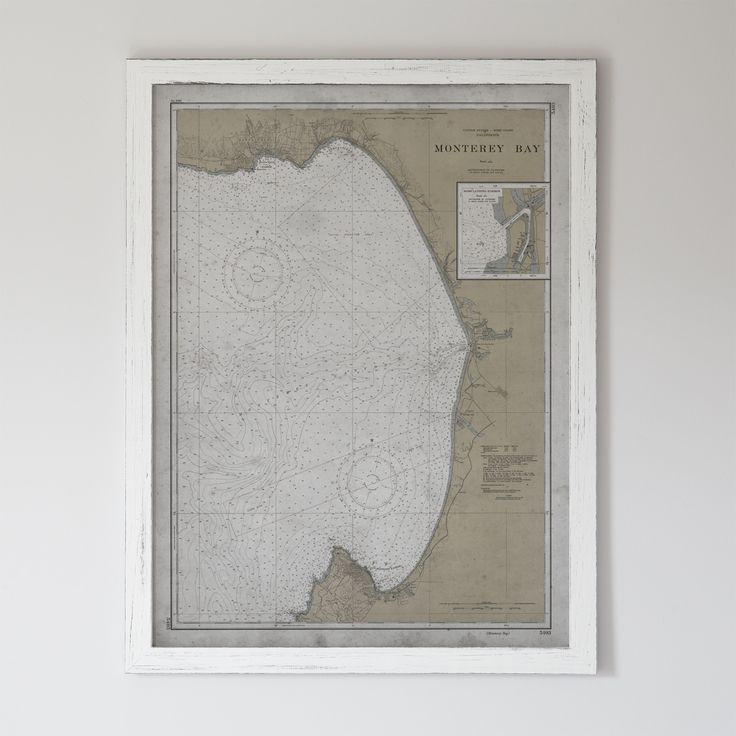 Map Acapulco Mexico%0A Monterey Map   Vintage Nautical Map Monterey Bay  California    th C