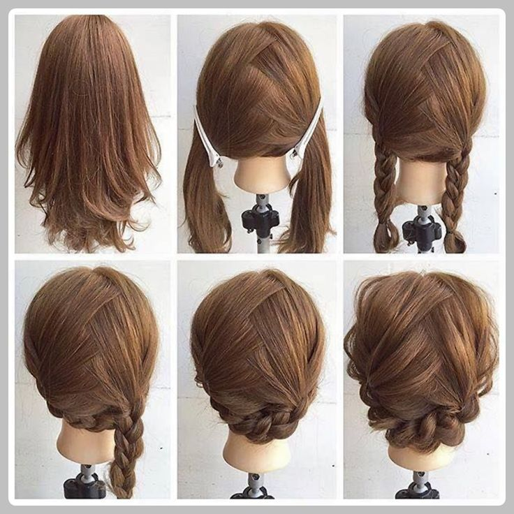easy and simple stepstep hairstyles for medium hairs