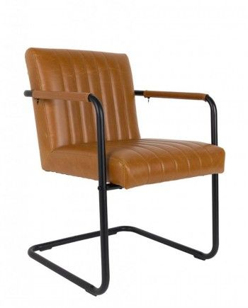 Dutchbone-stoel-Stitched-bruin-interieur-meubels