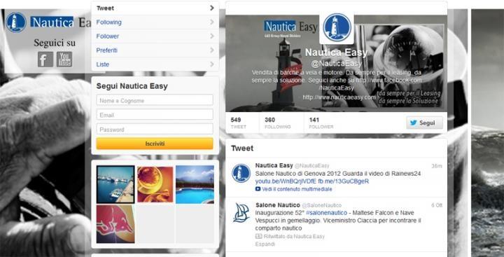 Il nostro profilo su #Twitter twitter.com/NauticaEasy