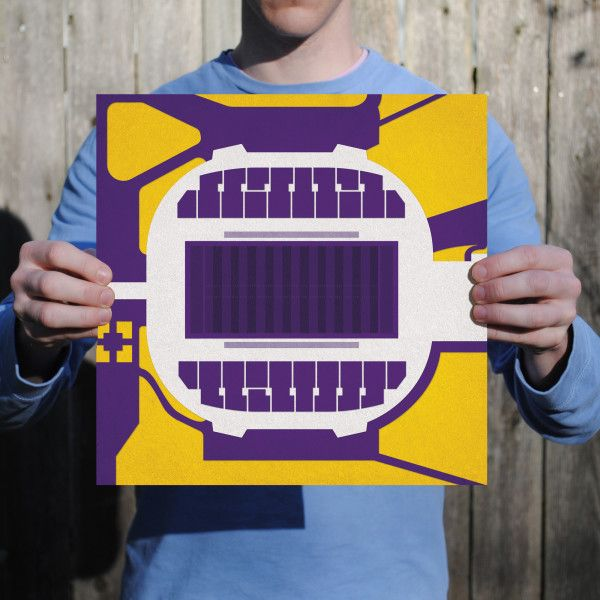 UNI-Dome located at University of Northern Iowa in Cedar Falls, Iowa. | College football prints from City Prints put you back in the stands on Saturdays. City Prints look like modern art and remind you of the unforgettable moments you experienced in your favorite seats