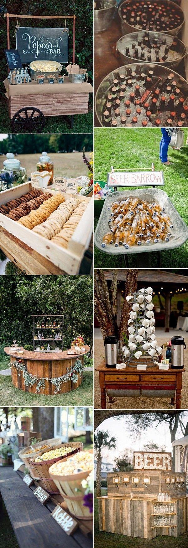 outdoor wedding food and drink ideas for reception #weddingideas #weddingdecor #outdoorwedding #backyardwedding #gardenwedding