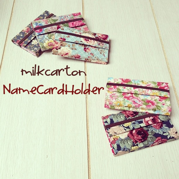 MilkCarton Name Card Holder