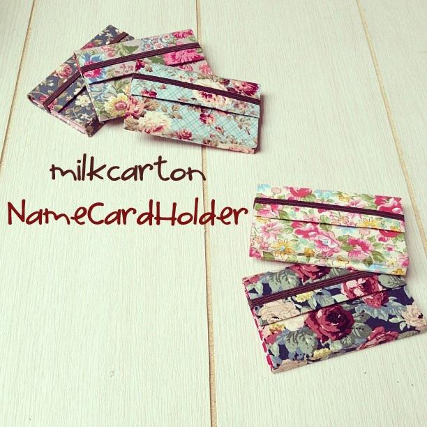 MilkCarton Name Card Holder