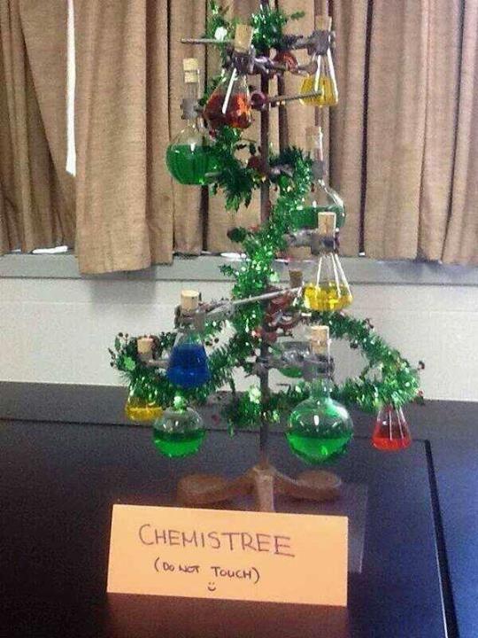 Chemist - tree  : )  #Chemistry #Christmas