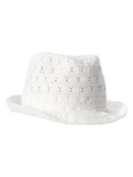 Crocheted Fedora online at The Gap