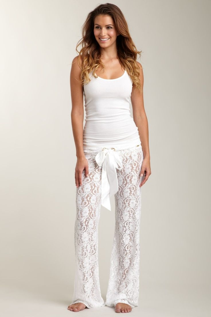 Lace pajama pants. @The Juggling Teacher Susie LaBelle christmas jammies haha!!