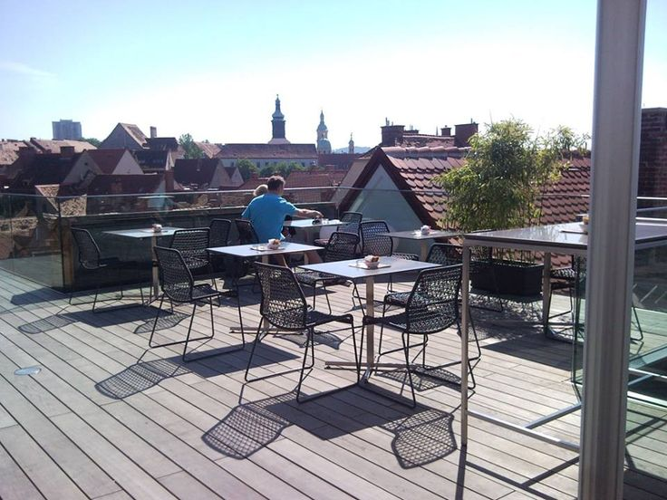 Vela chairs at the Skybar in Graz
