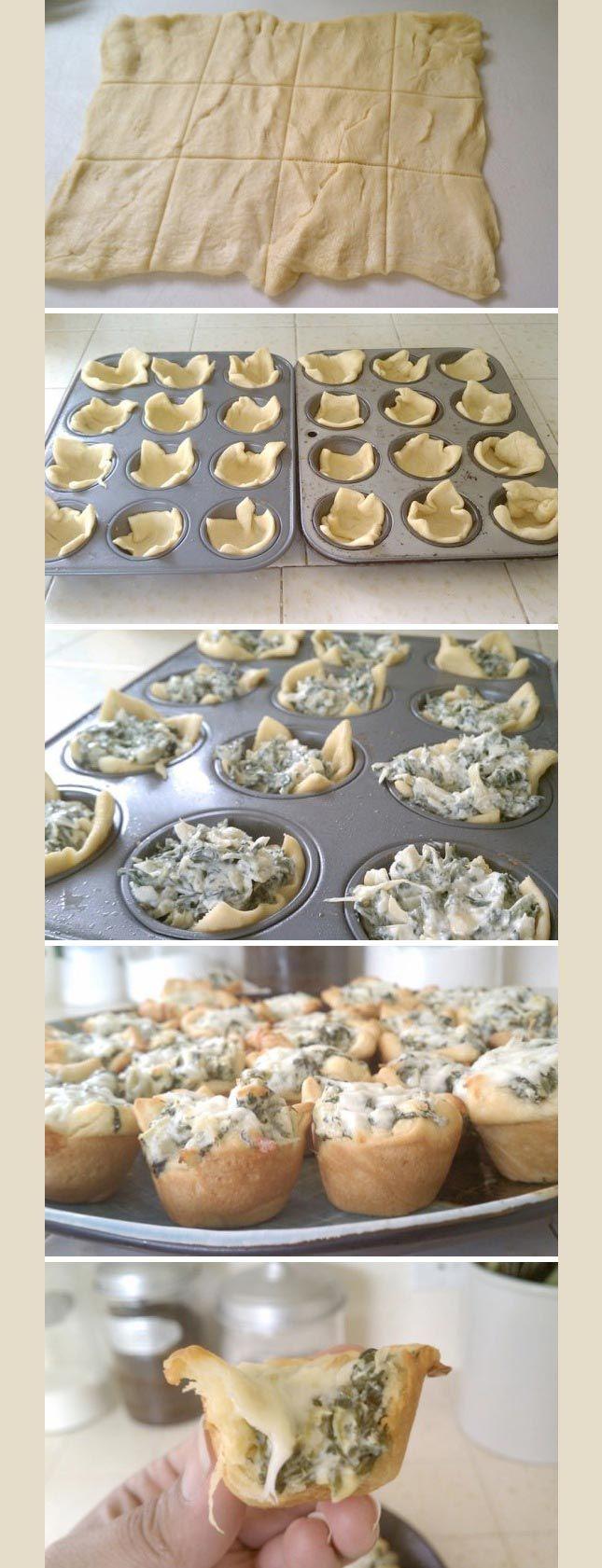 techlovedesign: Spinach Artichoke Bites