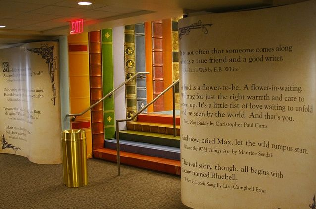Kansas City library children's area. Awesome! More great photos of the inside of the library on the click-through.