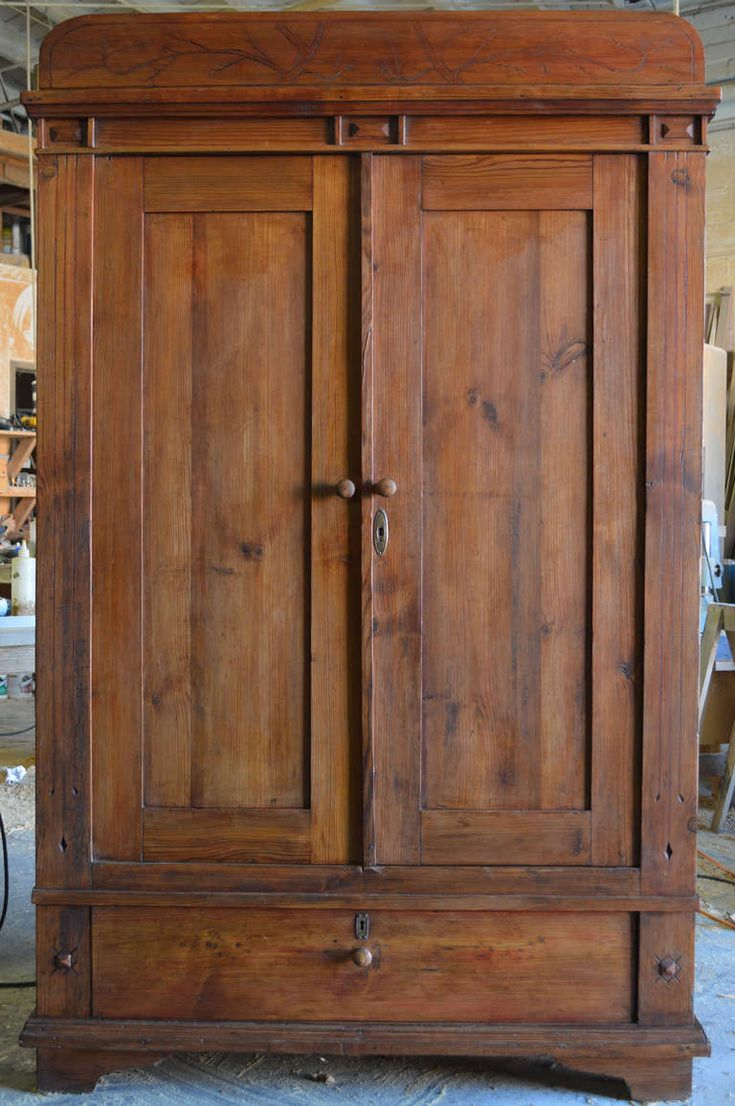 Art Nouveau Armoire With Spacious Drawer