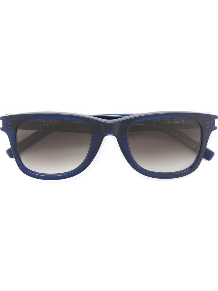 Saint Laurent Óculos de sol quadrado em acetato