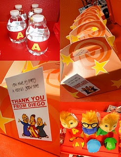 Alvin and the chipmunks party favors and decorations