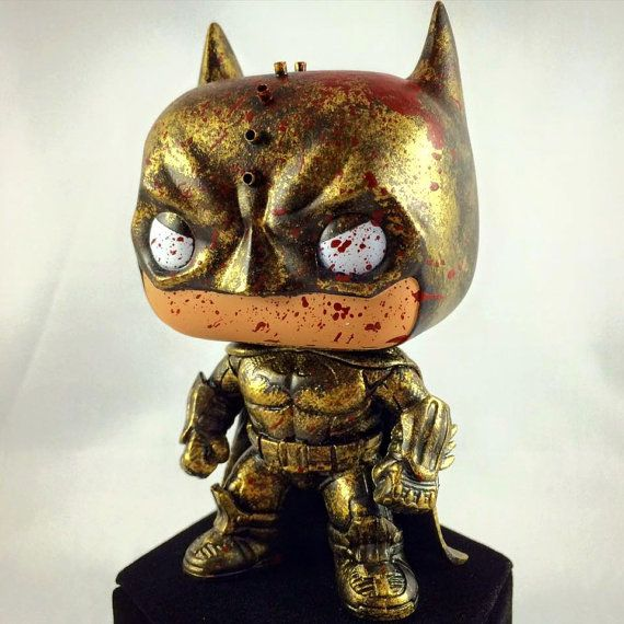 Here is a custom Batman Funko Pop for sale! This is hand painted and modded to look like he is Spartan Batman. Please note that these are