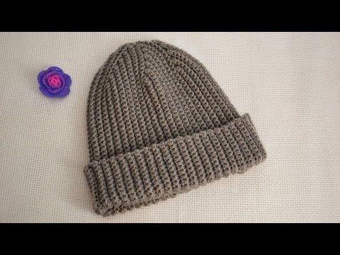 Шапка-бини (шапка-резинка) крючком от Полины Куц (Polina's Kuts hat) - YouTube