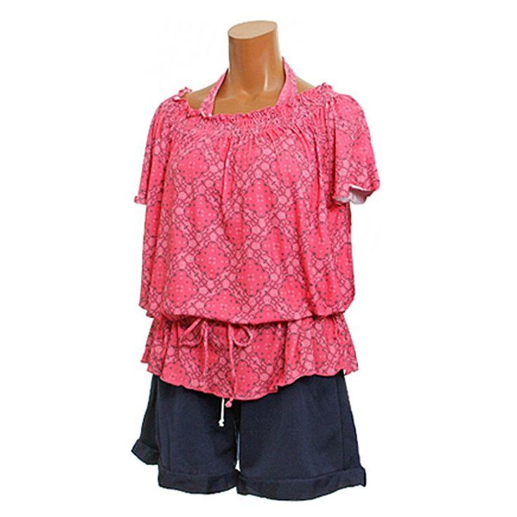 Amazon.co.jp: (トロピカルビーチ) TROPICAL BEACH 水着 バンダナ柄 タンキニ スカート付き 4点セット水着 大きいサイズ: 服&ファッション小物