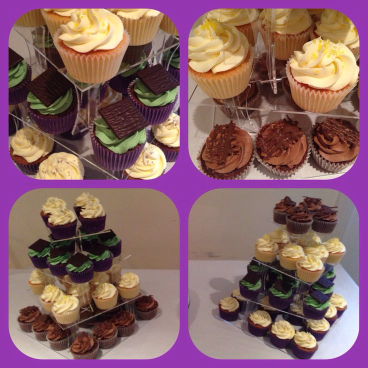 Wedding cupcakes. After eight, lemon, vanilla & chocolate.