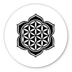 Цветок лотоса-восточный узор