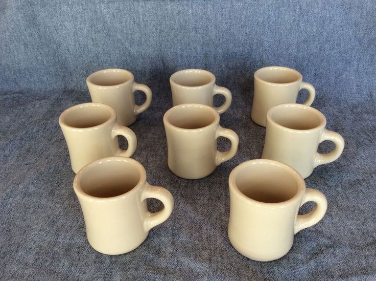 Eight Beige Tan Victor Restaurant Ware Diner Mugs. Yep, Eight!   | eBay