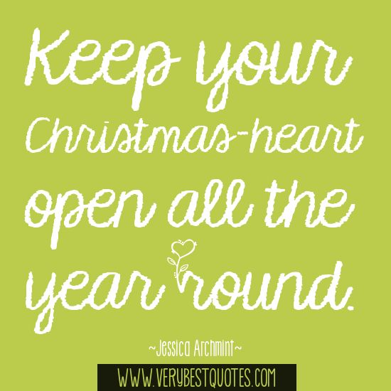 ·Keep your Christmas-heart open quotes