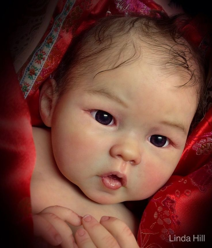 Reborn doll Prototype baby girl Asian Liling, Ping Lau, Linda Hill, IIORA