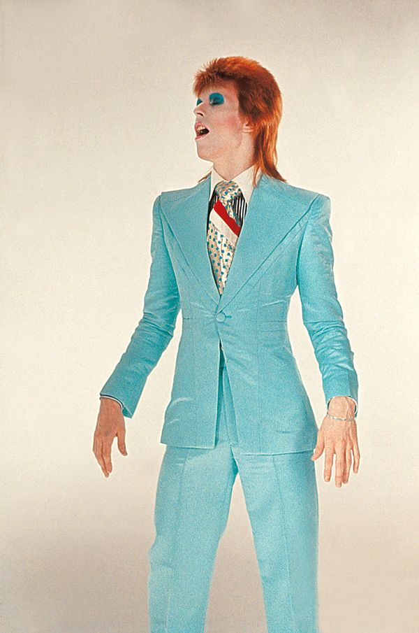 David Bowie as Ziggy Stardust video still from the song Is there Life on Mars?   Photo/Video by Mick Rock and costume by Freddie Buretti, 1972/73