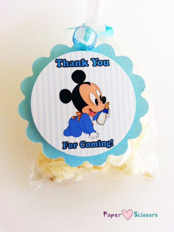 baby mickey baby shower or birthday favor by paperheartsscissors 7