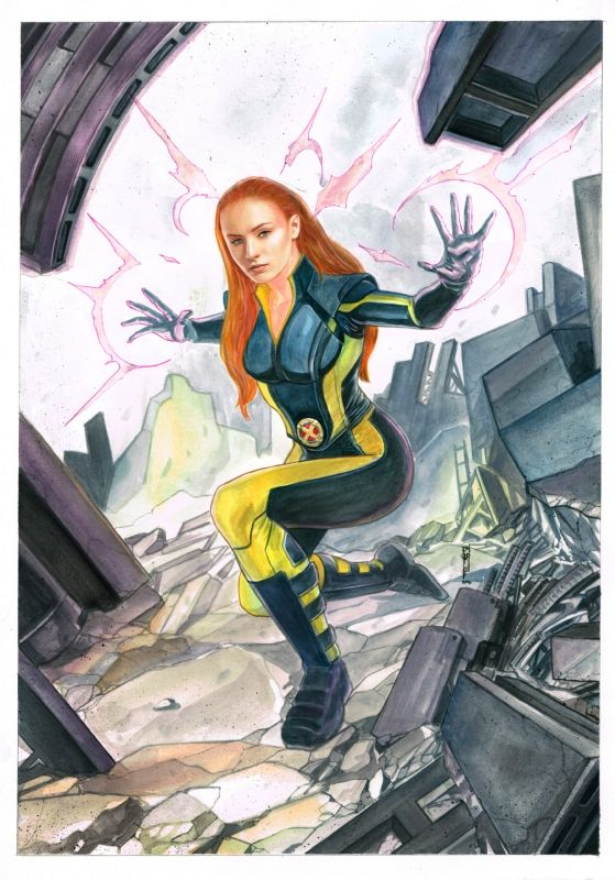 Jean Grey from X-Men Age of Apocalypse (Sophie Turner) by Garrie Gastonny - Open for commissions! Comic Art