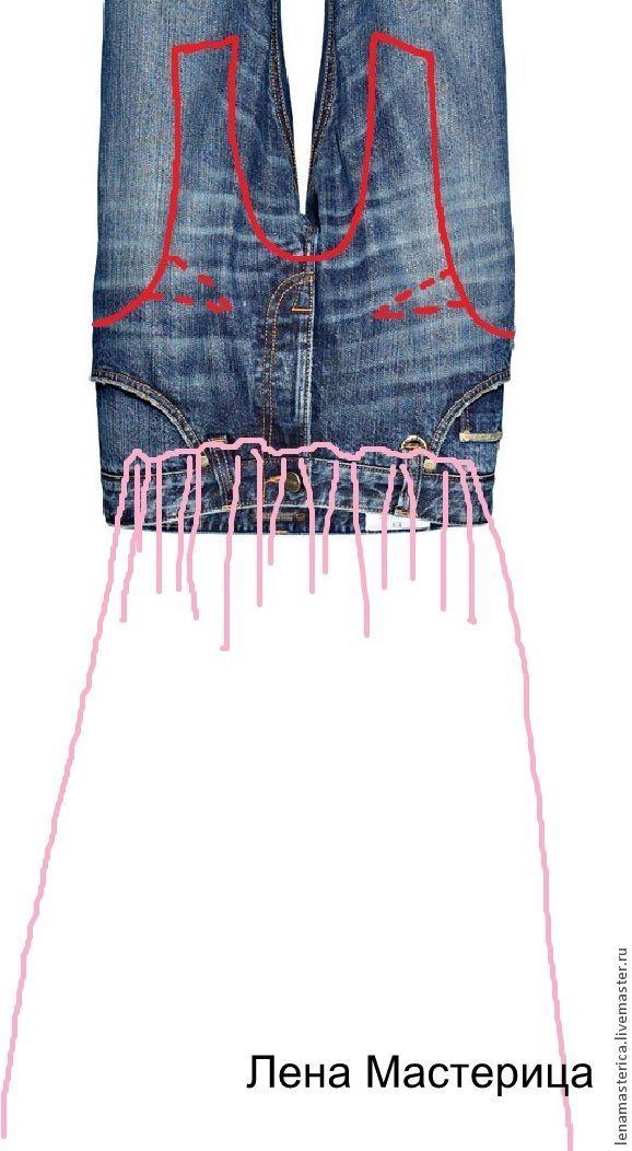 Refazendo vestido usando jeans velho - Feira Mestres - artesanal, feito à mão
