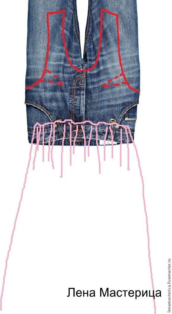 Recycle jeans into tank top, add skirt