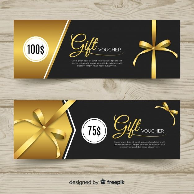 Elegant Gift Voucher Template With Golden Style Thiết Kế