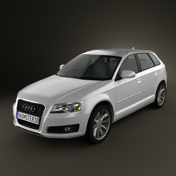 Audi A3 Sportback 2011 3d model from humster3d.com. Price: $75