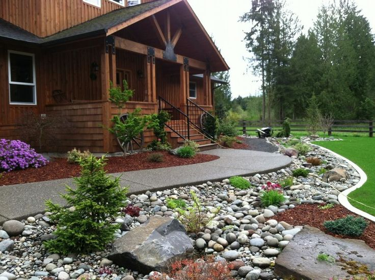 Best 25 river rock gardens ideas on pinterest garden - Landscaping with large rocks ...