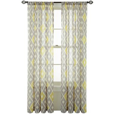 Gray white and yellow sheers from jcp my next living - Grey and yellow living room curtains ...