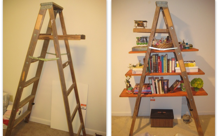 1000 images about antique shop display ideas on pinterest for Old wooden ladder projects