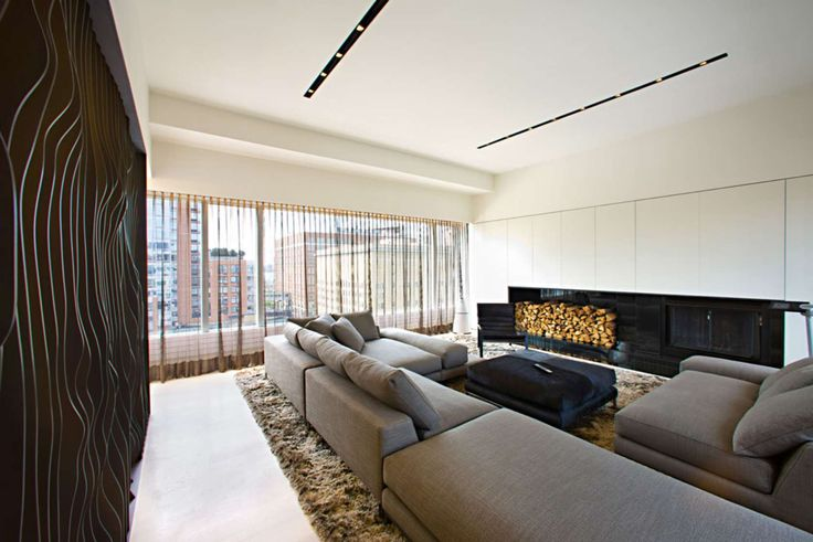 The architects at Innocad used the asymmetry of 459 West 18th Street to inspire their modern design. They also incorporated a subtle homage to Marilyn Monroe.