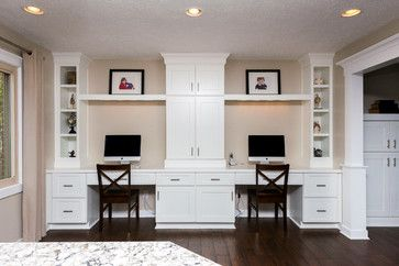 Nevell Lane Whole House Remodel - Transitional - Home Office - Indianapolis - Case Design & Remodeling Indy
