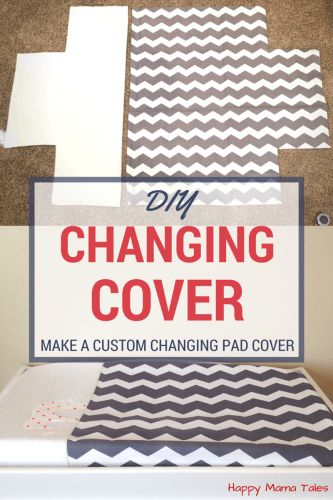 Make your own custom DIY Diaper Changing Pad Cover with this easy tutorial and FREE pattern!!