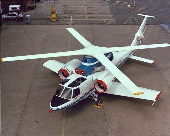 Sikorsky S-72 was an experimental hybrid helicopter/fixed-wing aircraft developed by helicopter manufacturer Sikorsky Aircraft.