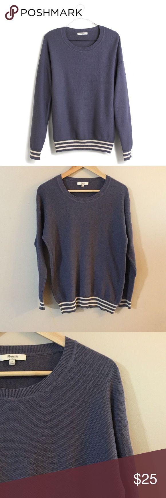 Madewell Vacay Sweater Navy Waffle Knit Sweater S