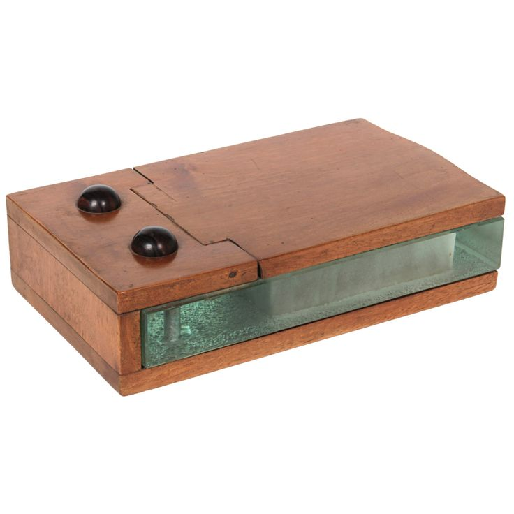 Alexandre Noll rare and early Art Deco mahogany and glass box c. 1930 | From a unique collection of antique and modern decorative boxes at http://www.1stdibs.com/furniture/more-furniture-collectibles/decorative-boxes/