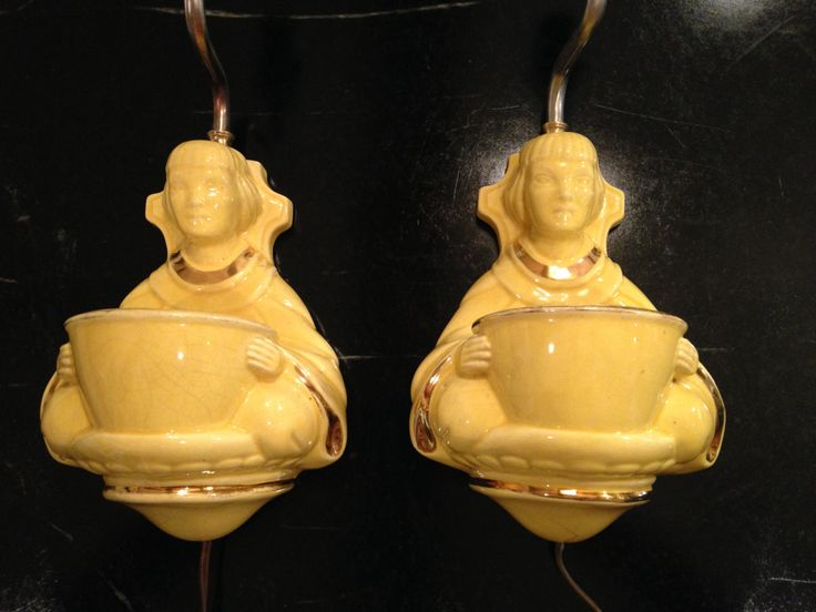 Pair of Asian Wall Sconce Lamps by PurpleIrisVintage on Etsy